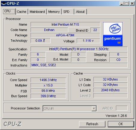 CPU-Zの表示はこちら。