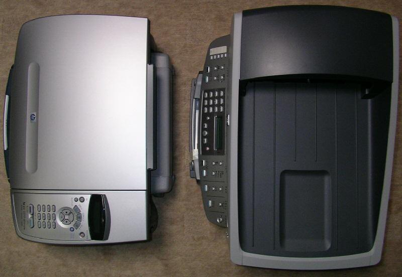 PSC 2310とOfficeJet 7210のサイズ比較画像